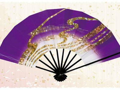 金筆線【舞扇・雅】濃紫