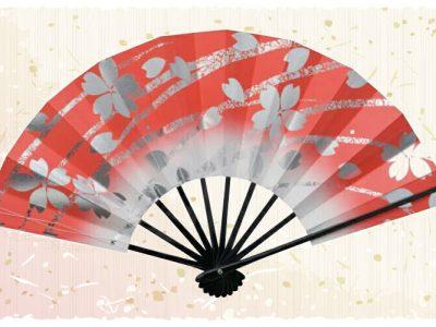 銀桜【舞扇・扇】赤
