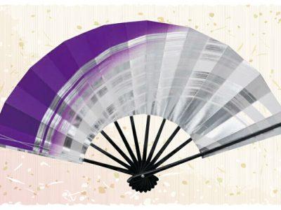 紫【舞扇・扇】白銀