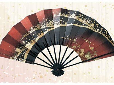 金波【舞扇・宴】 青 黒