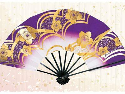 波桜【舞扇・扇】紫