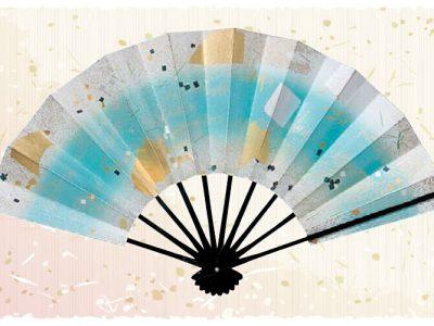 紙吹雪【舞扇・扇】水色