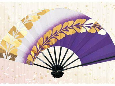 藤の花【舞扇・扇】紫