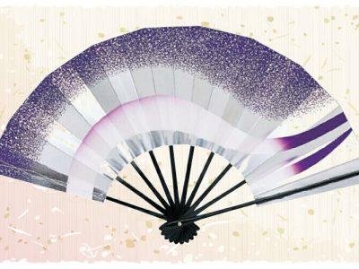 グラデーション【舞扇・扇】白 紫