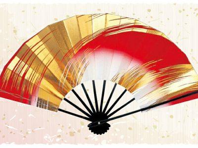 金筆線【舞扇・扇】赤
