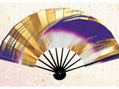 金筆線【舞扇・扇】紫