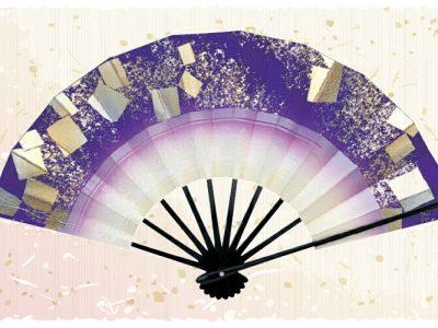 紙吹雪【舞扇・扇】金 銀 紫