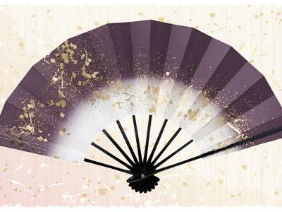 金スプラッシュ【舞扇・歌】 濃紫