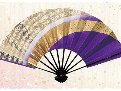 金流水【舞扇・歌】 紫