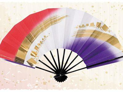 金筆線【舞扇・歌】 赤 白 紫