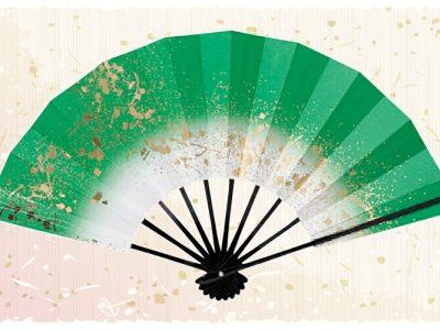 金スプラッシュ【舞扇・歌】 緑