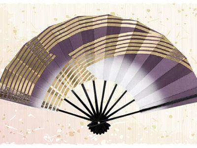 金筋立【舞扇・歌】 紫 金